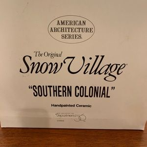 Snow Village Southern Colonial